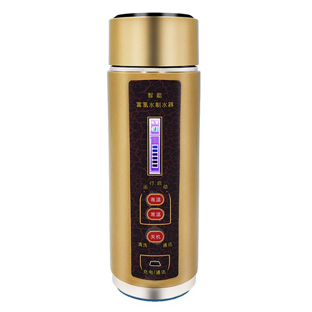 値引 電解水素水マグ、ポータブルホームマイナスイオン品質健康スマート充電ステンレスギフトケトルアルカリ酸素ジェネレータ400ml簡単にカップ,Gold Gold Gold B07GCNY33P B07GCNY33P, ナカセンマチ:98388c79 --- a0267596.xsph.ru