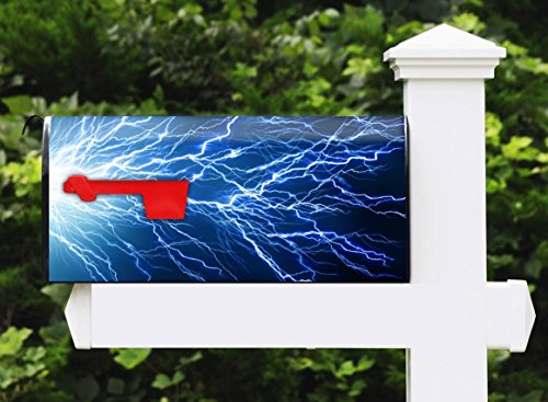 Awesome Mailbox - Lightening Arch Design - Metal, Post Mount and Made in the USA
