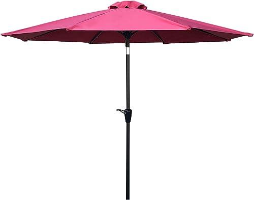 6 9 Round 100 Solution-dyed Polyester Aluminum Outdoor Market Backyard Table Balcony Patio Umbrella