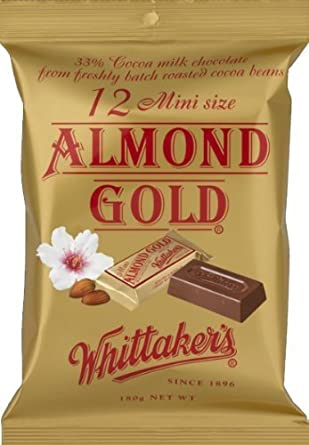 Whittakers 12 Mini Size Chocolate Slab 180g Made In New