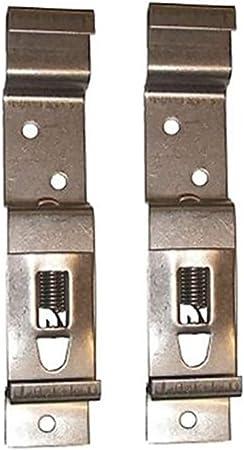 support de plaque dimmatriculation en acier inoxydable /à ressort Lot de 2//4//6 pinces de plaque dimmatriculation pour remorque