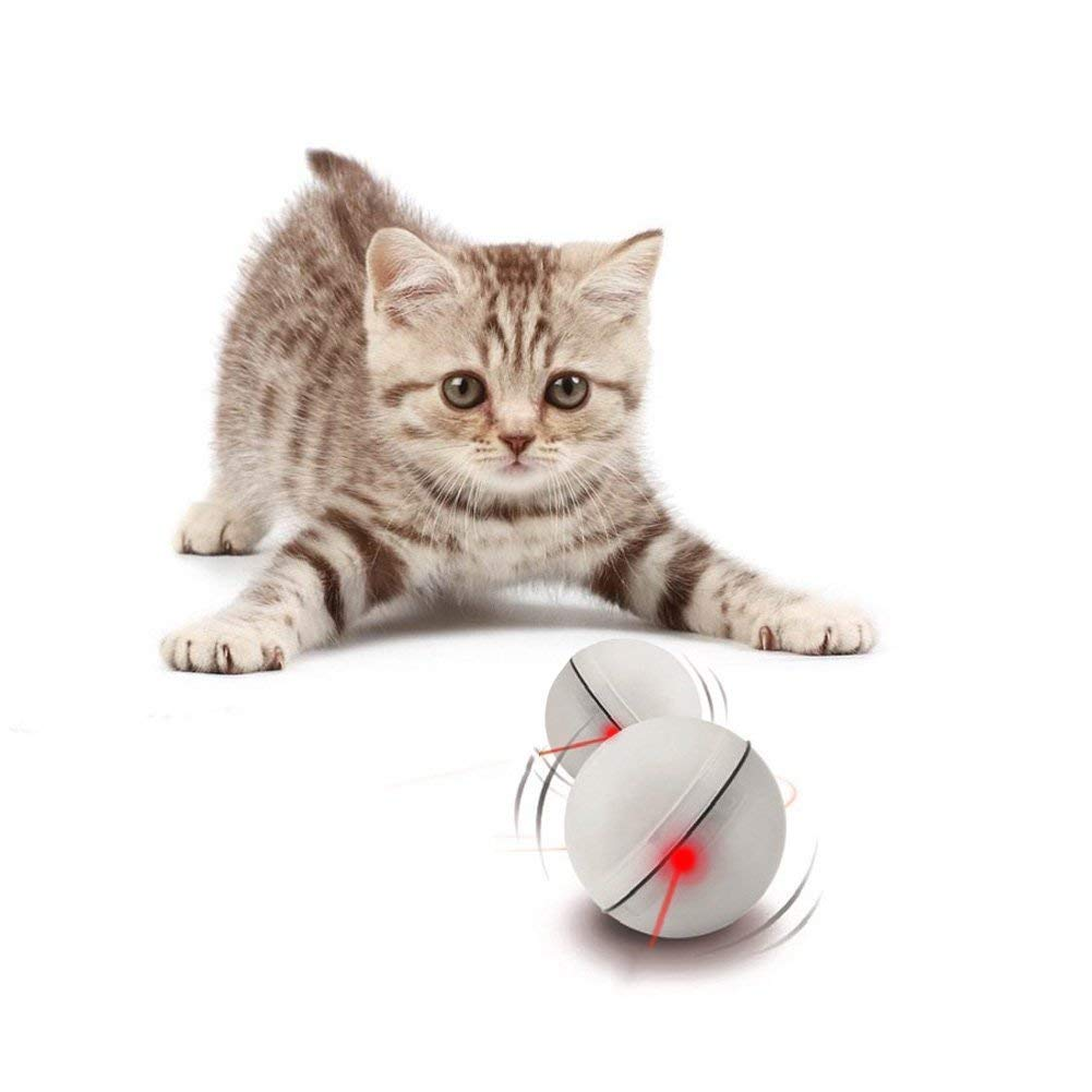 ZhongGe 360 Degree Self Rotation Ball Cat Toy Automatic Light Interactive Electronic Toy for Pet (3 Packs Batteries Included) by ZhongGe