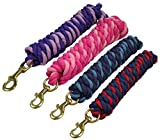 Lot of 3 Striped Cotton Lead Rope Brass Snap 10 ft
