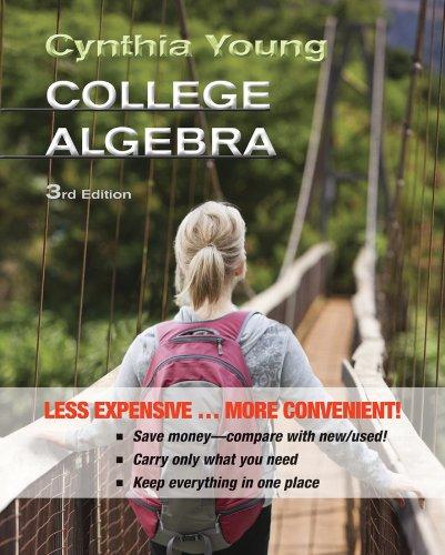 College Algebra 3E Binder Ready Version   Wileyplus Registration Card