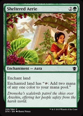 Magic  The Gathering   Sheltered Aerie  206 264    Dragons Of Tarkir