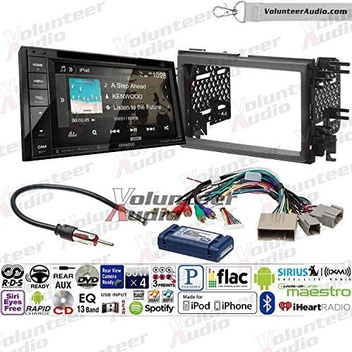 Volunteer Audio Kenwood Ddx276bt Double Din Radio Install Kit With Bluetooth Sirius Xm Ready Touchscreen Fits 2007 2010 Edge With Factory Amplified Sound