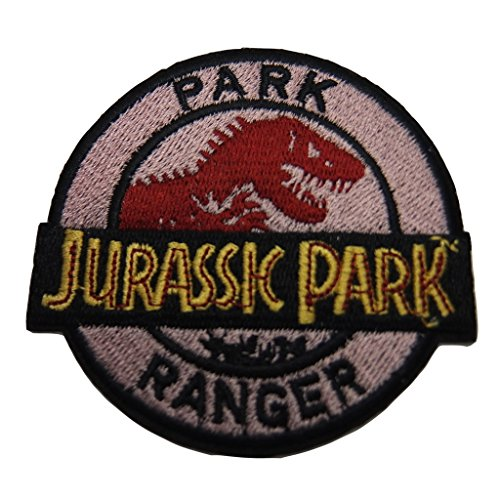 Dinosaurs Series Costume (Jurassic Park Series Ranger Dinosaur Skeleton Name Logo Embroidered Patch Decorative Applique)