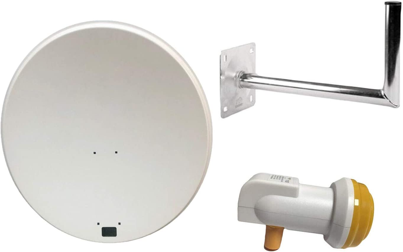 Eurosat and Astra 1 /& 2 which comes with Elavation Bracket freesat Polsat Hotbird SAB 80CM Satellite Dish for Sky Feed arm /& LNB Holder. Dish Bracket