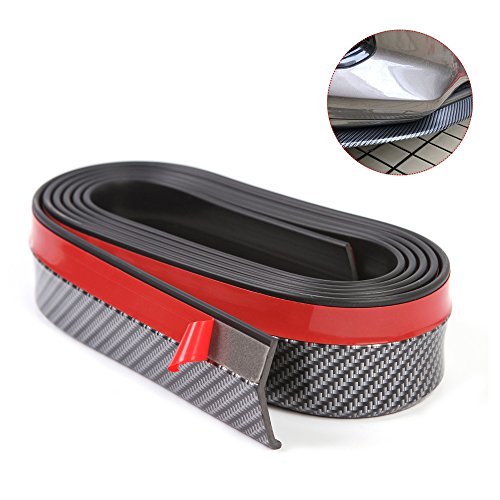 KOOYAOO Front Bumper Lip Spoiler Protector Universal Side Skirt for Car Lip Strip Rubber -8FT Black