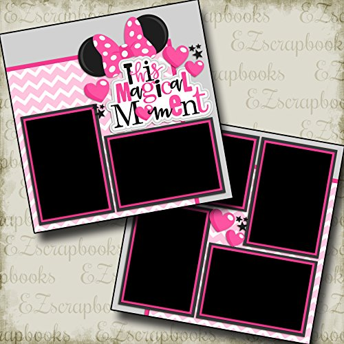 THIS MAGICAL MOMENT PINK - Premade Scrapbook Pages - EZ Layout 2234