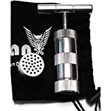 T Press Tool 3.5 Inches Engineered Brass Cylinder Heavy Duty Metal T Shape, Spice Pollen, Tincture Crusher Silver Color