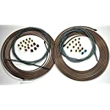 Complete Copper Nickel Brake Line Kit. 1/4 and 3/16 Rolls w Fittings / Armor