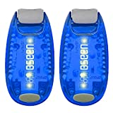 Bseen Led Safety Lights Clip On Strobe Light Running Cycling Bike Tail Dog Collar Warning Night Light Hight Visibility Accessories for Reflective Gear (2 Pack)-Blue