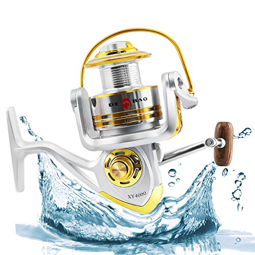 Homar Left/Right Fishing Spinning Reels - Best in Fishing Accessories - Smooth Aluminum Fishing Reel Spool Capacity 500-6004 Series Perfect for Saltwater & Freshwater Spinning Ice Surf Fishing