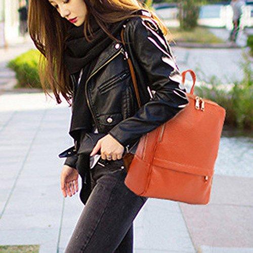 Nikauto dos pour à femmes Orange cuir sac en ArqEAC