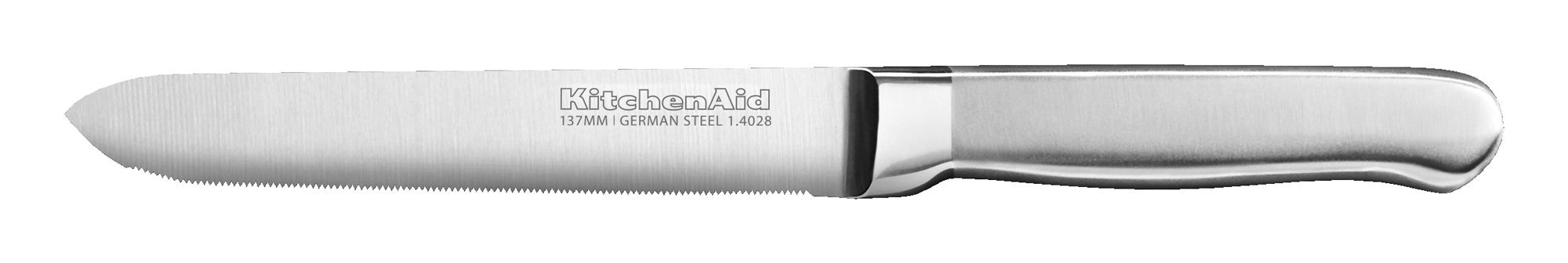 KitchenAid KKFSS5SUST Classic Forged Series Brushed Serrated Utility Knife, Stainless Steel, 5.5'' by KitchenAid