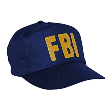 FBI Baseball Cap Blue with Yellow Stitching  Amazon.co.uk  Sports ... 655133d65ed