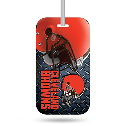 Rico Industries NFL Cleveland Browns Plastic Team Luggage Tag]()