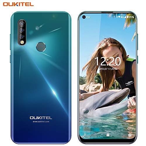 OUKITEL C17 PRO Unlocked Cell Phones,6.35″ HD Blind Hole Display, Triple Rear Sony Camera(13MP + 5MP + 2MP),Android 9.0 Octa-Core 4GB + 64GB ROM,3900mAh Battery 4G LTE GSM Unlocked Smartphone(Blue)
