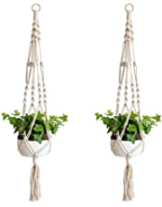 Kedious Plant Hanger, Handmade Macrame Hanging Basket for Indoor, Outdoor Decorate - 2 Packed