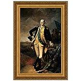 Design Toscano George Washington at the Battle of Princeton, 1781 Canvas Replica Pa...
