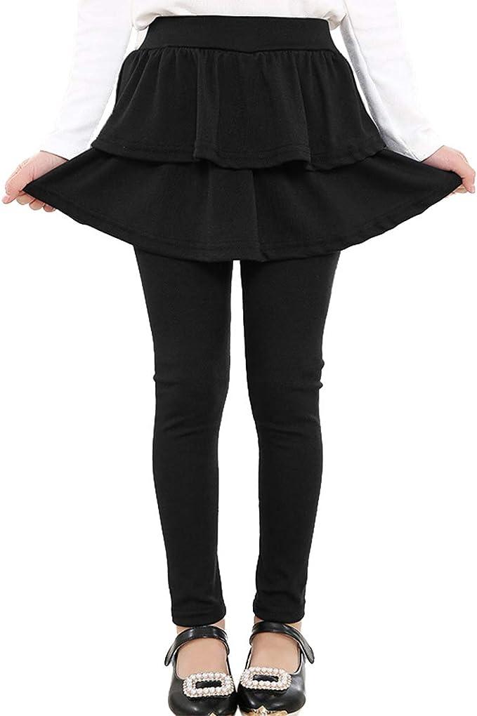 Adorel Leggings con Falda Pantalones Largos para Niñas: Amazon ...