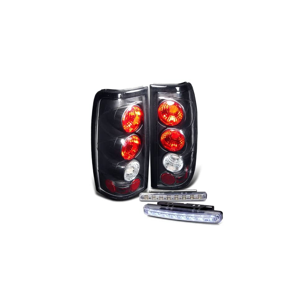 Eautolights 03 06 Silverado Sierra Tail Lights + LED Bumepr Fog Brand New