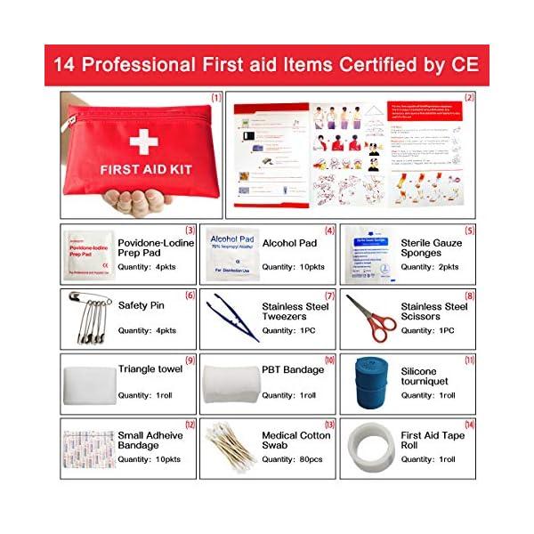Th-some JAANY Botiquín de Primeros Auxilios de artículos, Survival Tools Mini Box Kit Bolsa Médica para Emergencias para… 2