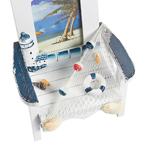 Juvale Beach Chair Picture Frames – 2-Pack Miniature Beach Chair Vacation Theme Photo Frames for Living Room, Bedroom, Dining Room Décor, 6 x 5.25 x 5 Inches