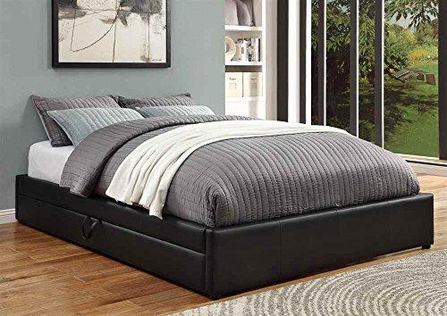 Coaster Queen Bed W Storage Black