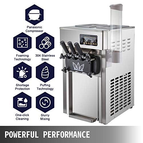 alpha-ene.co.jp VEVOR 2200W Commercial Soft Ice Cream Machine 3 ...
