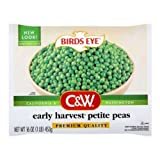 Birds Eye C and W Early Harvest Petite Peas, 16 Ounce -- 12 per case.