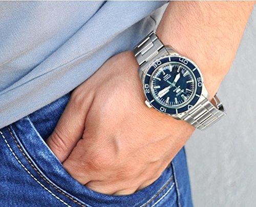 4349f874c ... Seiko Men's SNZH53 Seiko 5 Automatic Dark Blue Dial Stainless Steel  Watch ...
