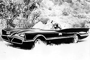 Adam West Batman Full Pose of Classic Batmobile Vintage Car 24x36 Poster at Gotham City Store