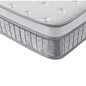 Vesgantti Boxtop Matelas 24cm Épaisseur Ressort Ensachés en Mousse de Forme 7 Zones de Confort CertiPUR-US (Mode…