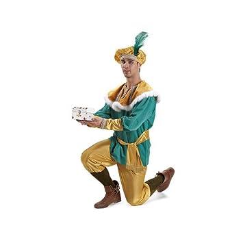 Disfraz o traje Paje del Rey Melchor extra adulto: Amazon.es ...