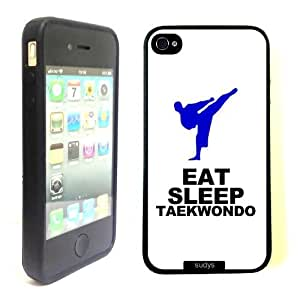 SudysAccessories Eat Sleep Taekwondo Thinshell Case Protective iPhone 4 Case iPhone 4S Case