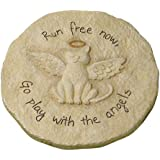 "Grasslands Road Beloved ""Run free now"" Cat with Halo Remembrance Stepping Stone Plaque"