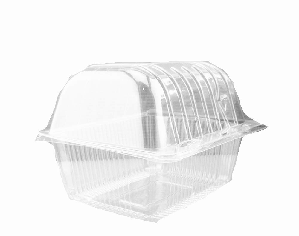 Arched Hewnda 100 pieces of plastic single personal cake box Muffin box arched box