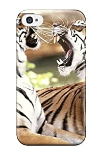 Austin B. Jacobsen's Shop 6009052K13838833 For Iphone Case, High Quality Bengal Tigers For Iphone 4/4s Cover Cases