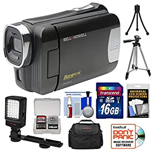 Bell & Howell DNV6HD Rogue Infrared Night Vision 1080p HD Video Camera Camcorder with Card + Case + Tripods + LED Light + Kit