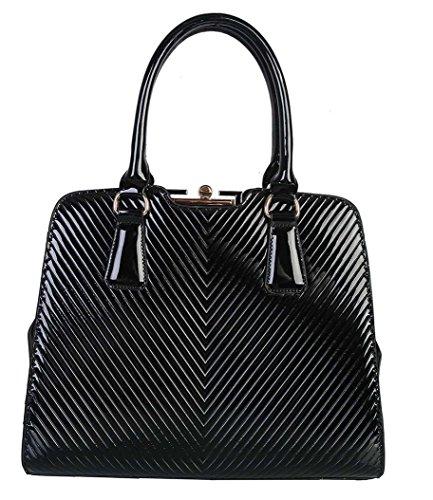 rimen-co-shiny-patent-pu-leather-doctor-tote-womens-purse-handbag-lx-2362-black