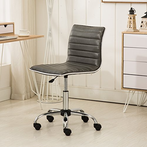 Roundhill Furniture OF1011GY Fremo Chromel Adjustable Air Lift Office Chair, Grey by Roundhill Furniture