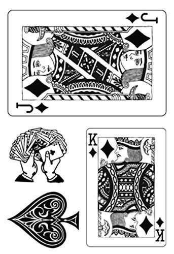 Timbre Clear Scrapbooking Poker Tac Tampon Clair Tic Stamp U5wTq1q4