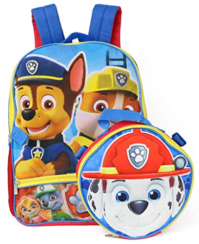 Nickelodeon Boys' Paw Patrol Shaped Marshall Lunch Kit Backpack, Blue, One Size by Nickelodeon