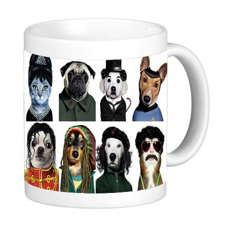 Funny Dog and Cat Look a Likes 11 ounce Ceramic Coffee Mug Tea Cup