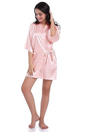 Bata de Noche para Mujer Vestimenta de Lujo Batas de baño Kimono de Lujo para Gimnasio Ducha SPA Hotel Robe Holiday (Color : 3, tamaño : XXL): Amazon.es: ...