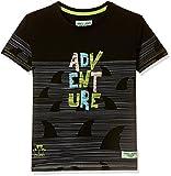 Gini & Jony Boys' Plain Regular Fit T-Shirt (121246518339 C207_Black_8)