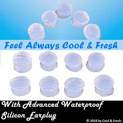 8pcs Waterproof Soft Silicon Non Sticky Easy to Wear Noise Reducing Earplug