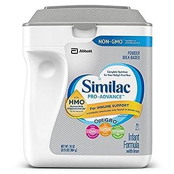 Similac Abbott Pro-Advance Non-GMO Powder Infant Formula with Iron with 2